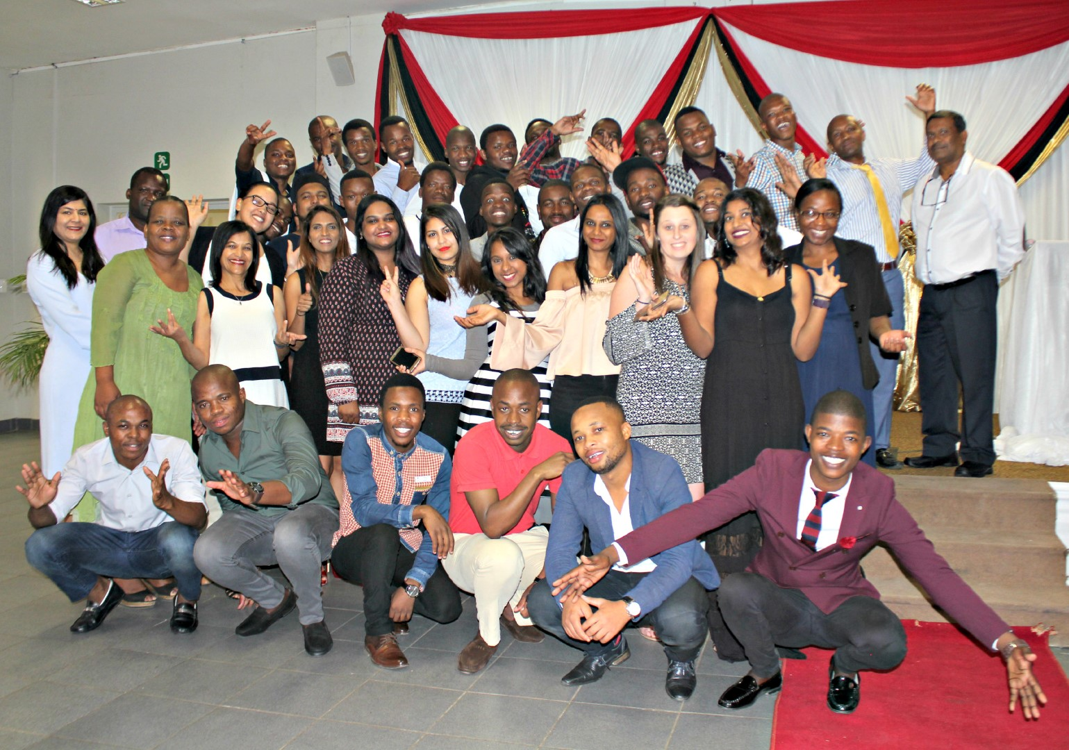 Staff and students at the Maths FET farewell and excellence awards function.