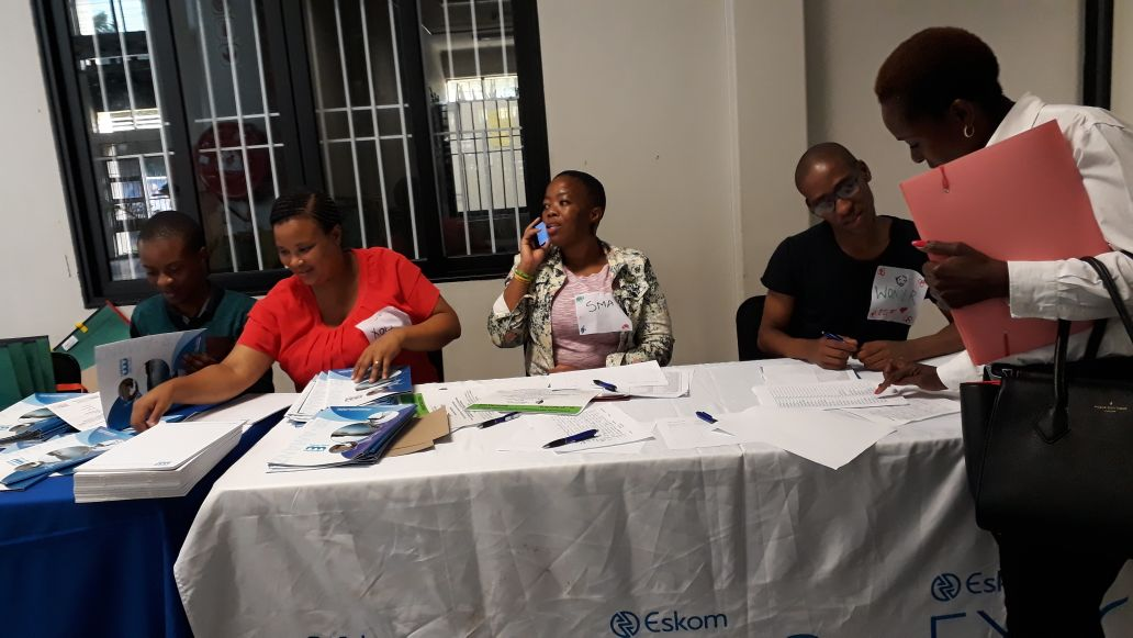 Mr Luthando Molefe (far right) with other participants from various places/organisations during the Environmental Sustainable Action and Community Development Conference/Do reference that was held at the School of Education.