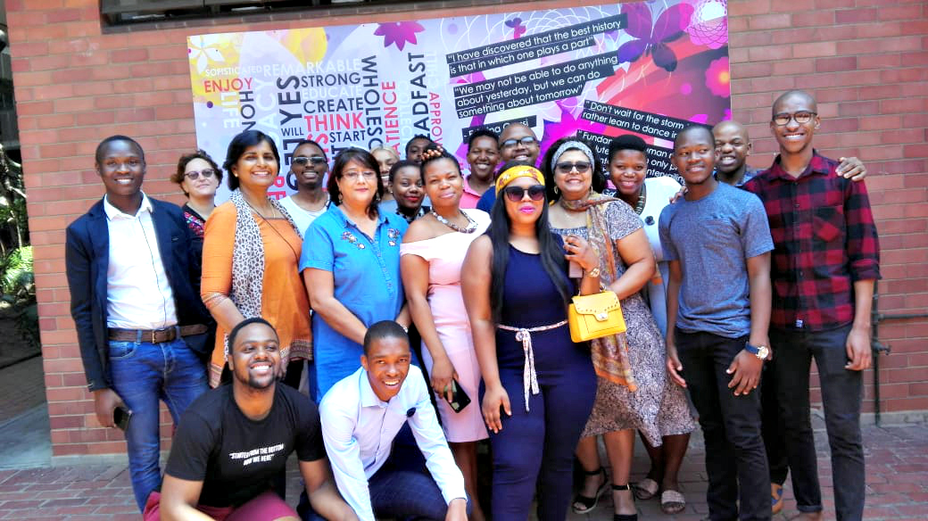 Students and staff at the function hosted by the Student and Teacher Enhancement Programme.