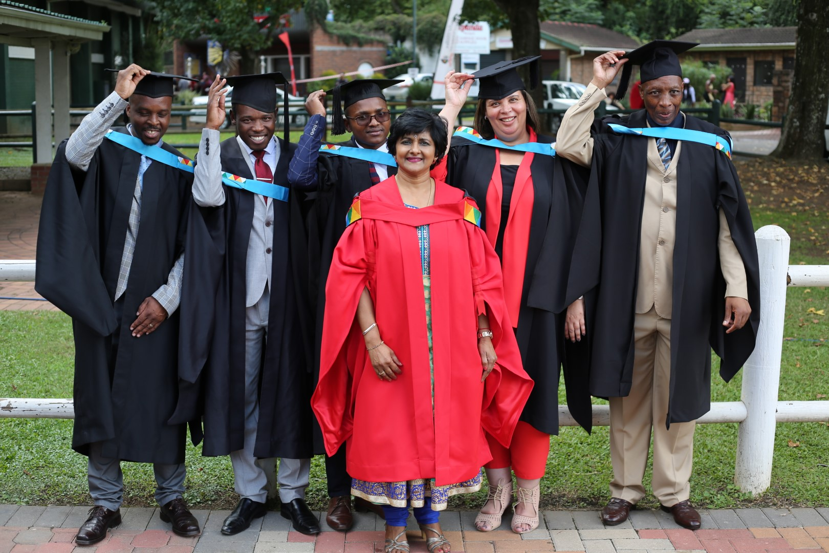 Supervisor Dr Jaqueline Naidoo with her students