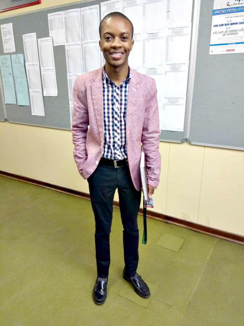 Education student Mr Luthando Molefe.