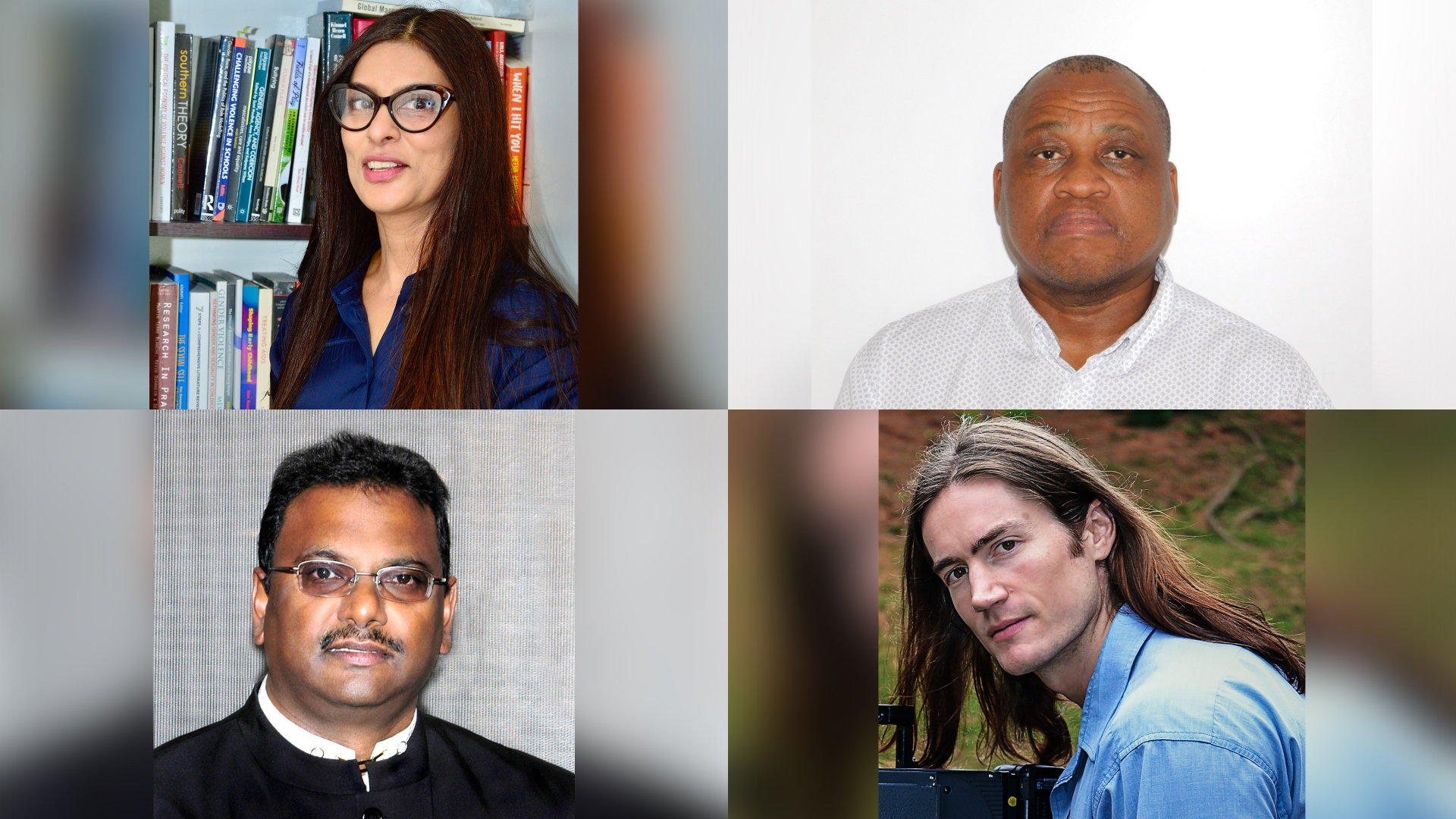 At a public webinar series were Professor Deevia Bhana, Professor Dipane Hlalele, Professor Jace Pillay and Dr Damien Tomaselli.