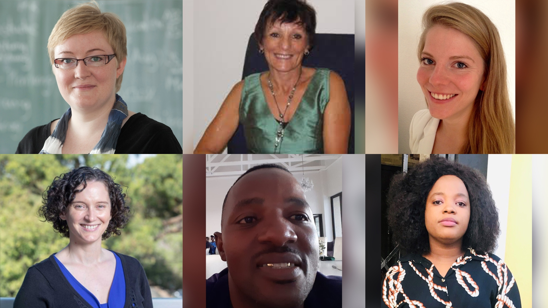 Top from left: Professor Anja Philipp, Professor Lesley Wood and Mrs Miriam Arnold. Bottom from left: Dr Rebecca Collie, Mr Ndabenhle Terry Mdluli and Ms Nompumelelo Nzimande.