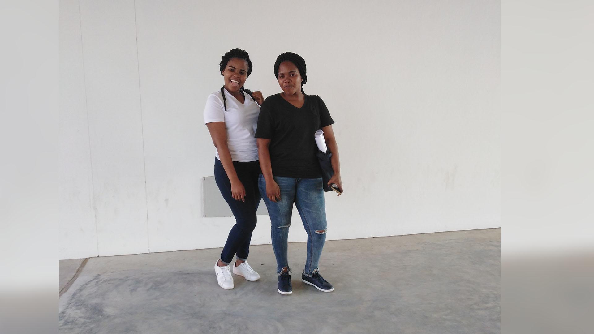Twins Panaso (left) and Pamela Ntanzi.