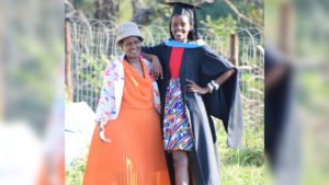 Ms Sbongimpilo Mdabe and her grandmother.